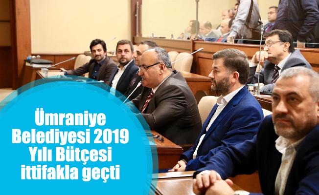 Ümraniye Belediyesi 2019 Yılı Bütçesi ittifakla geçti