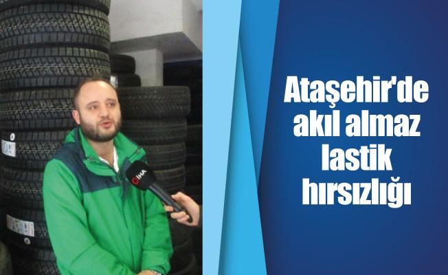 Ataşehir'de akıl almaz lastik hırsızlığı