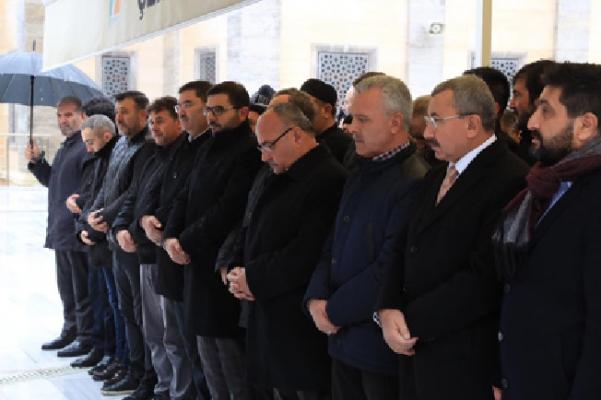 Başkan Hasan Can Şaban Aytaç'ın eşinin cenazesine katıldı