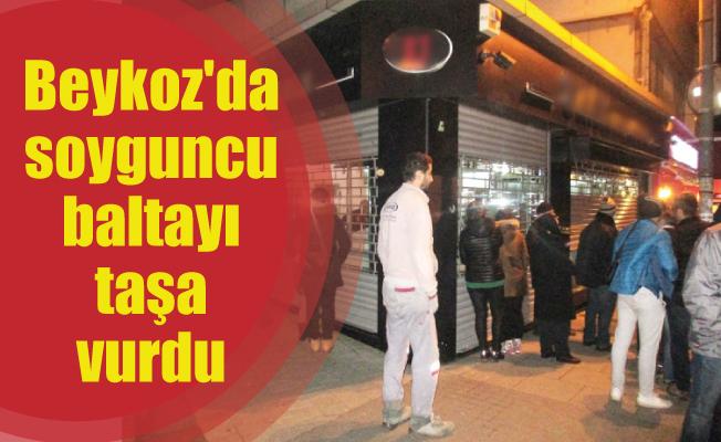Beykoz'da soyguncu baltayı taşa vurdu