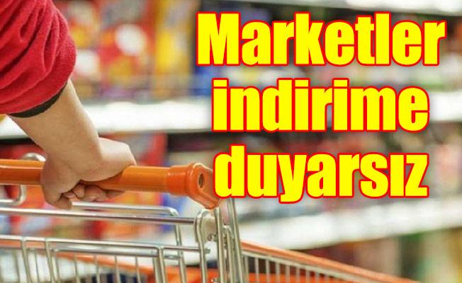 Marketler indirime duyarsız…