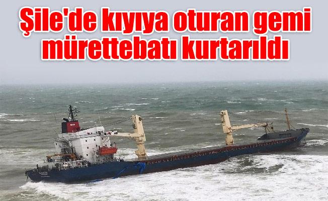 Şile'de kıyıya oturan gemi mürettebatı kurtarıldı