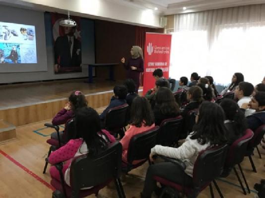 Ümraniye Belediyesi, öğrencilere çevre eğitimi veriyor