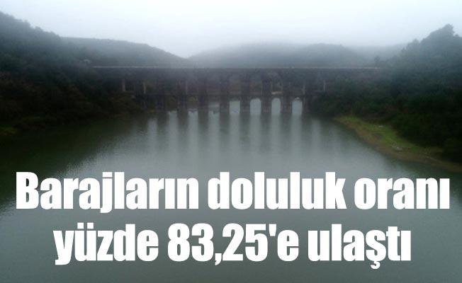 Barajların doluluk oranı yüzde 83,25'e ulaştı