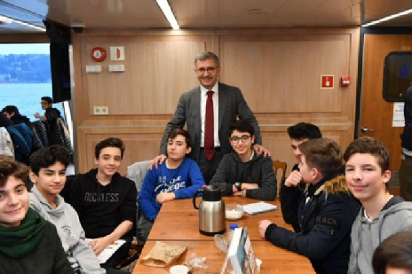 Beylerbeyi Hacı Sabancı Anadolu Lisesi Valide Sultan Gemisi'nde