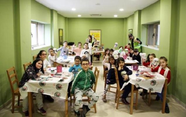 Çocuklar için 'Masal Yüzleri Atölyesi' düzenlendi