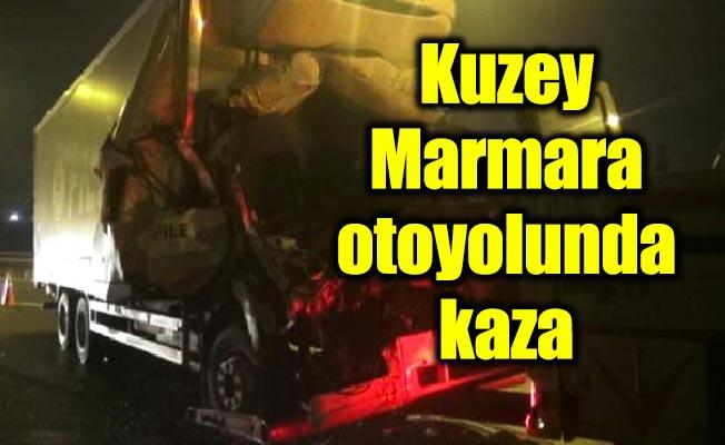 Kuzey Marmara otoyolunda kaza: 1 yaralı