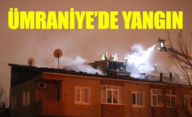 Ümraniye'de yangın