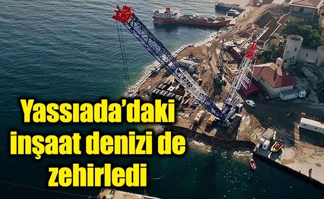 Yassıada'daki inşaat denizi de zehirledi