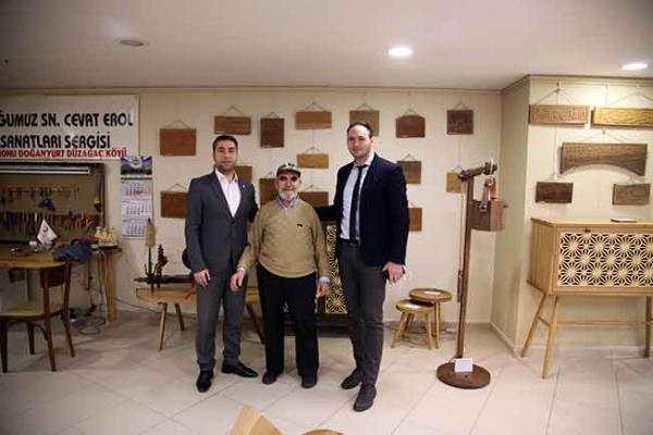 """Cevat Erol'un """"El Sanatları Sergisi"""" Kartal'da Açıldı"""