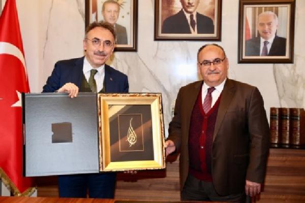 Hasan Can, İSKİ Genel Müdürü Fatih Turan'ı ziyaret etti