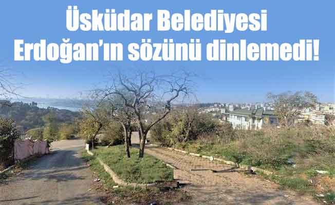 Üsküdar Belediyesi Erdoğan'ın sözünü dinlemedi!
