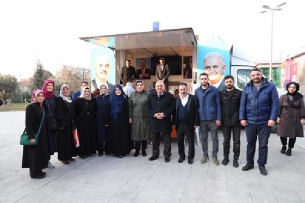 Başkan Hasan Can'dan AK Nokta'ya ziyaret