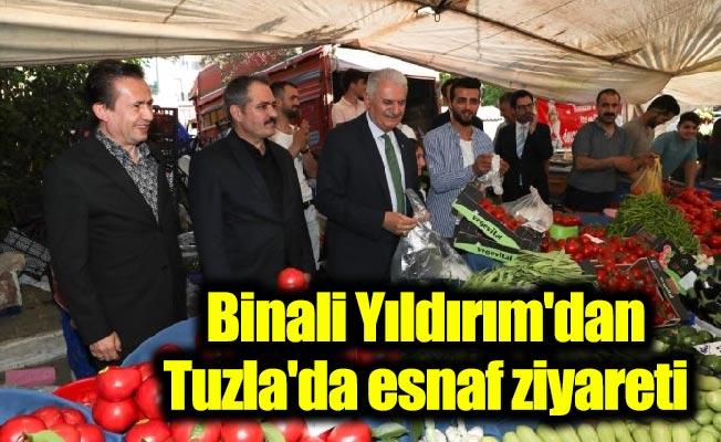 Binali Yıldırım'dan Tuzla'da esnaf ziyareti
