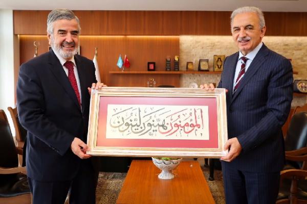 İstanbul İl Müftüsü Prof. Dr. Hasan Kamil Yılmaz'dan Başkan Yıldırım'a Ziyaret