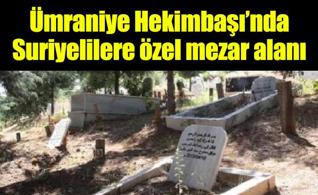 Ümraniye Hekimbaşı'nda Suriyelilere özel mezar alanı