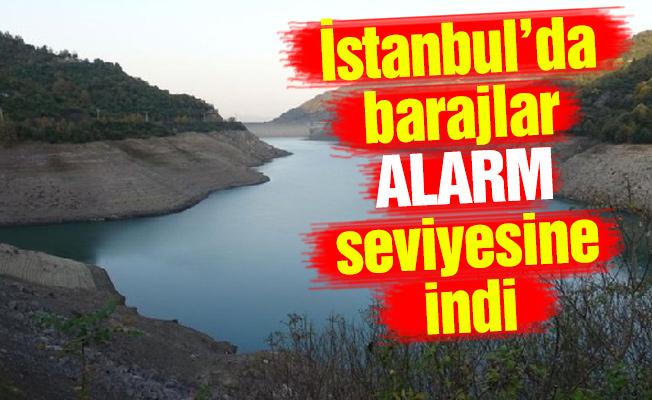 İstanbul'da barajlar alarm seviyesine indi