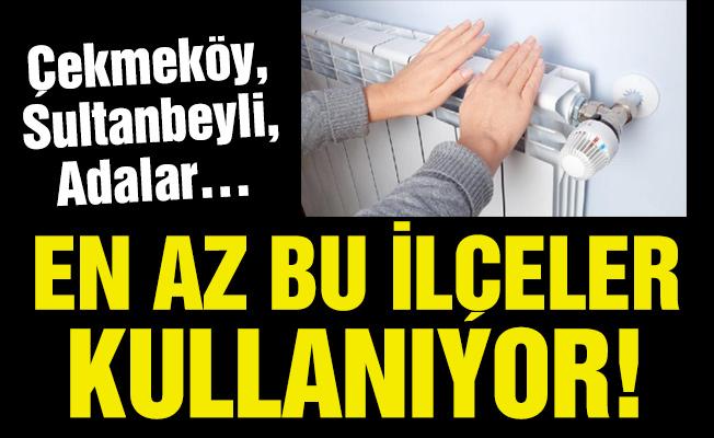 Çekmeköy, Sultanbeyli, Adalar…EN AZ BU İLÇELER KULLANIYOR!