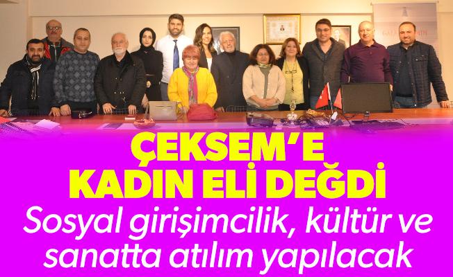 ÇEKSEM'E KADIN ELİ DEĞDİ