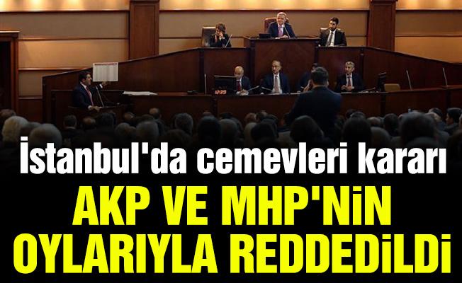 İstanbul'da cemevleri kararı AKP ve MHP'nin oylarıyla reddedildi