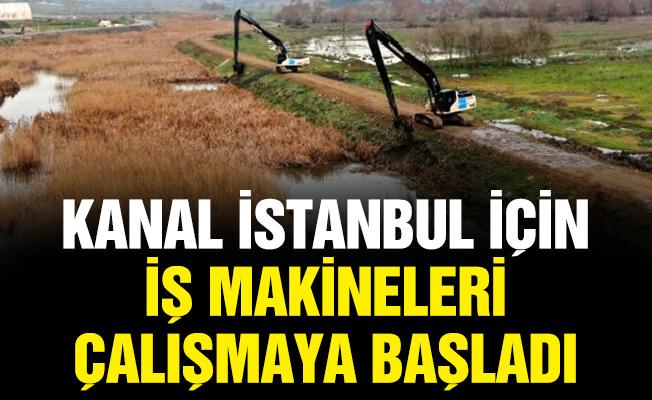 Kanal İstanbul için iş makineleri çalışmaya başladı