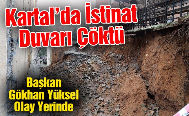 Kartal'da İstinat Duvarı Çöktü