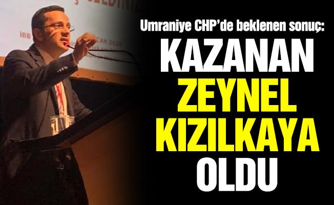Ümraniye CHP'de beklenen sonuç:Kazanan Zeynel Kızılkaya oldu