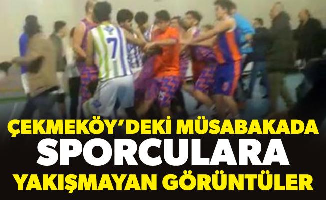 Çekmeköy'deki müsabakada sporculara yakışmayan görüntüler