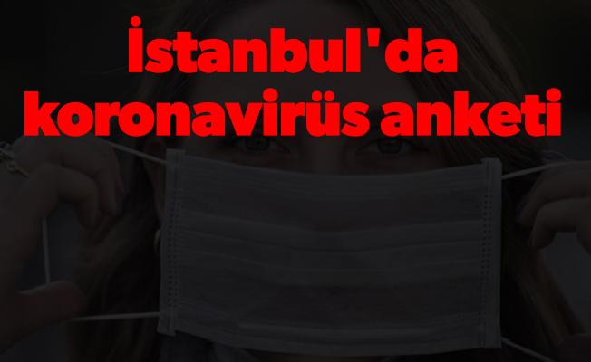 İstanbul'da koronavirüs anketi