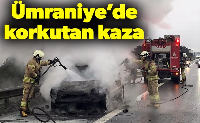 Ümraniye'de korkutan kaza