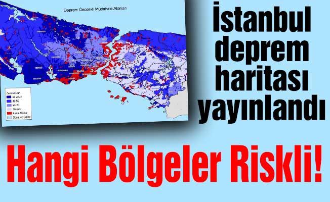 İstanbul deprem haritası yayınlandı