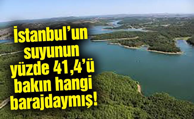İstanbul'un suyunun yüzde 41,4'ü baksın hangi barajdaymış!