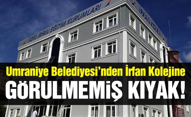 Ümraniye Belediyesi'nden İrfan Koleji'ne görülmemiş kıyak!