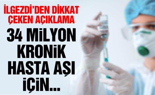 34 milyon kronik hasta aşı için yaşamları üzerine bir sınav veriyor!