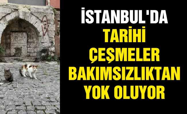 İstanbul'da tarihi çeşmeler bakımsızlıktan yok oluyor
