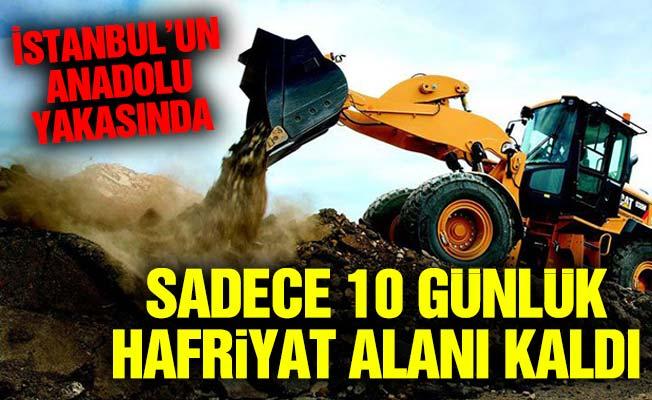 İstanbul'un Anadolu yakasında sadece 10 günlük hafriyat alanı kaldı