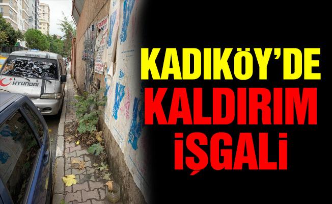 Kadıköy'de kaldırım işgali