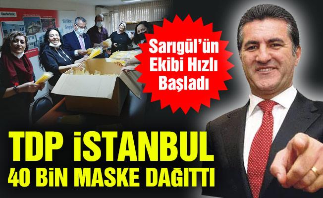 TDP İstanbul 40 bin maske dağıttı