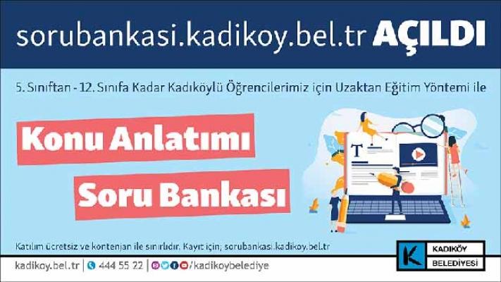 Uzaktan Eğitime 'Soru Bankası' Desteği