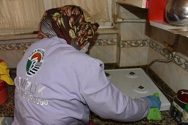 2020 Yılında 945 Kez İhtiyaç Sahibi Vatandaşın Evi Temizlenerek Dezenfekte Edildi