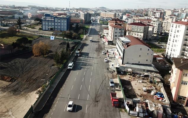 Yıldırım Bayezit Caddesi baştan aşağı asfaltlandı