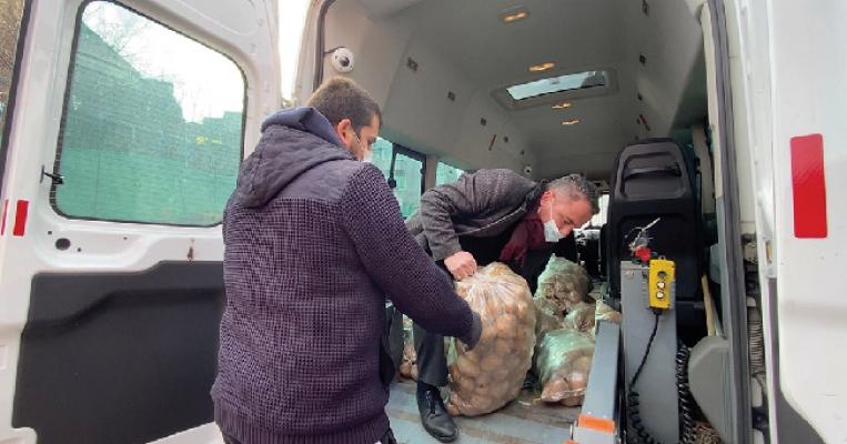 350 Ton Patates 15000 İhtiyaç Sahibi Aileye Dağıtıldı