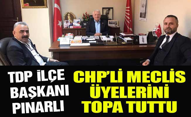 TDP İLÇE BAŞKANI PINARLI, CHP'LİMECLİS ÜYELERİNİ TOPA TUTTU