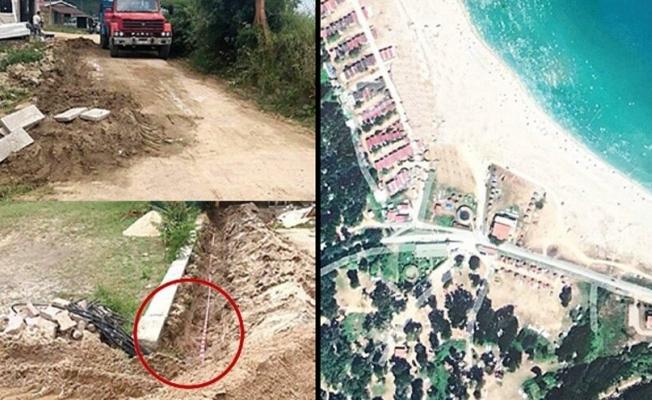 Sahile kaçak mahalle kurmuşlar'