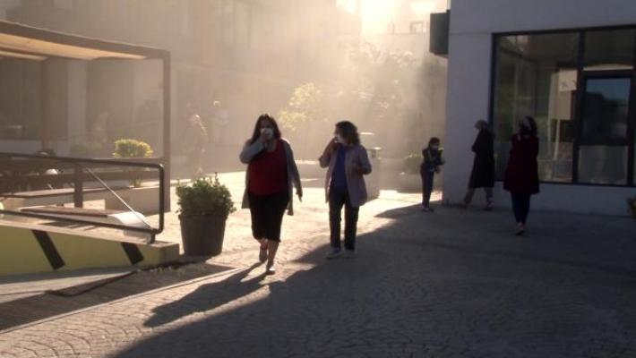Ümraniye'de sitede yangın: Vatandaşlar tahliye edildi