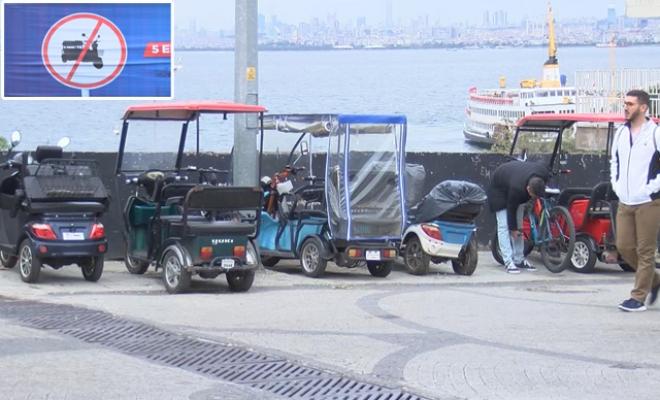 Adalar'da Akülü Araç Tartışması