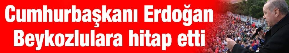 Cumhurbaşkanı Erdoğan Beykozlulara hitap etti