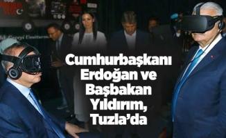 Cumhurbaşkanı Erdoğan ve Başbakan Yıldırım, Tuzla'da