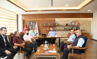 Hasan Can'a Emekli olan zabıta memurlarından ziyaret