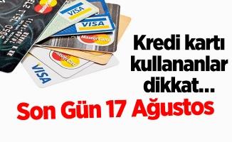 Kredi kartı kullananlar dikkat…